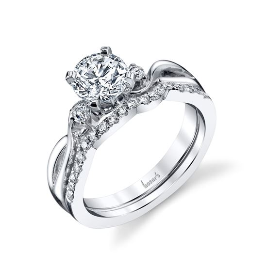 14Kt White Gold Three Stone with a Twist Diamond Engagement Ring
