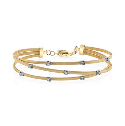 14kt Yellow Gold Modern Diamond Bracelet