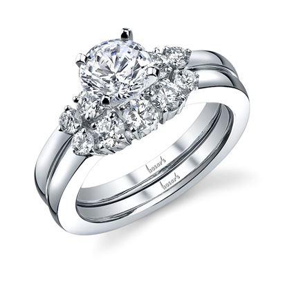 14Kt White Gold 5 Stone Diamond Engagement Ring