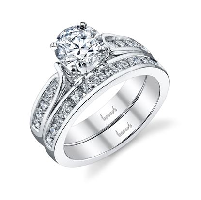14Kt White Gold Twisted Cathedral Diamond Engagement Ring