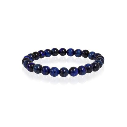Italgem Men's Blue Tiger Eye Bracelet