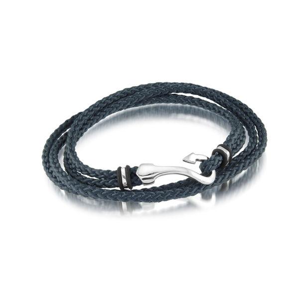 Italgem Men's Cord Bracelet with Stainless Steel Hook Clasp