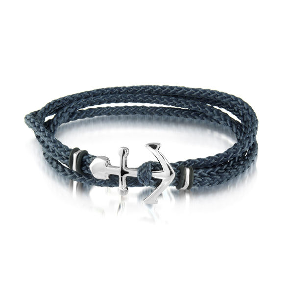 Italgem Men's Bracelet with Stainless Steel Anchor Clasp