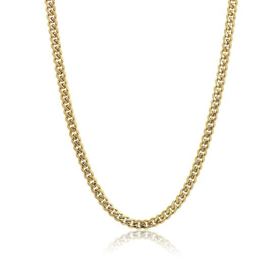 Italgem Men's 7.7mm Yellow Stainless Ion Plated Chain