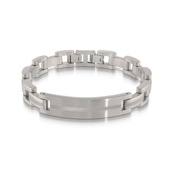 Italgem Men's Stainless Steel Bracelet with ID Plate