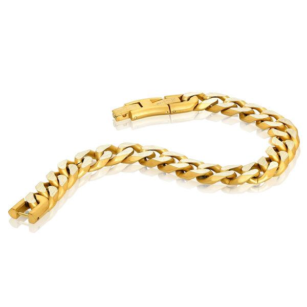 Italgem Men's Stainless Ion Plated Bracelet in Yellow Tone
