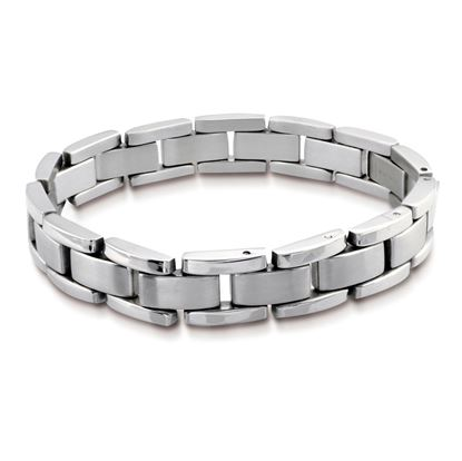 Italgem Men's Bicycle Stainless Steel Bracelet