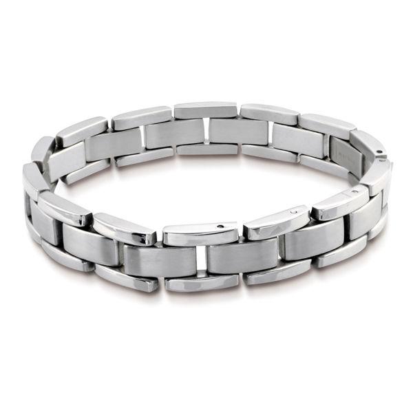 Italgem Men's Bicycle Stainless Steel Bracelet
