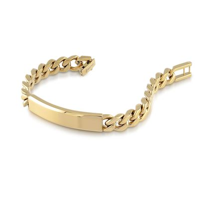 Italgem Men's 9.4mm Yellow Stainless Ion Plated Curb Link Bracelet