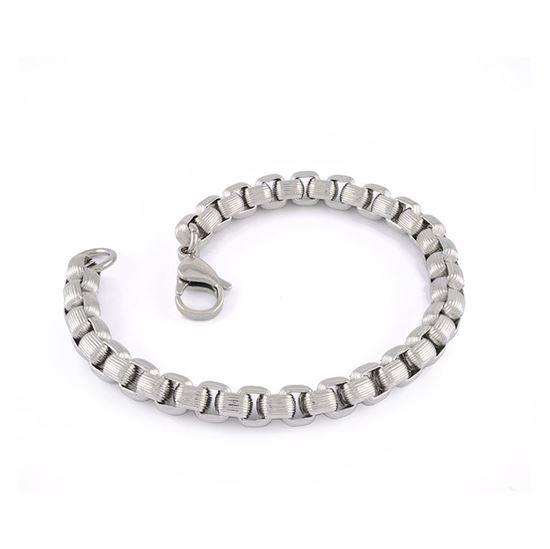 Italgem Men's Stainless Steel Box Chain Bracelet