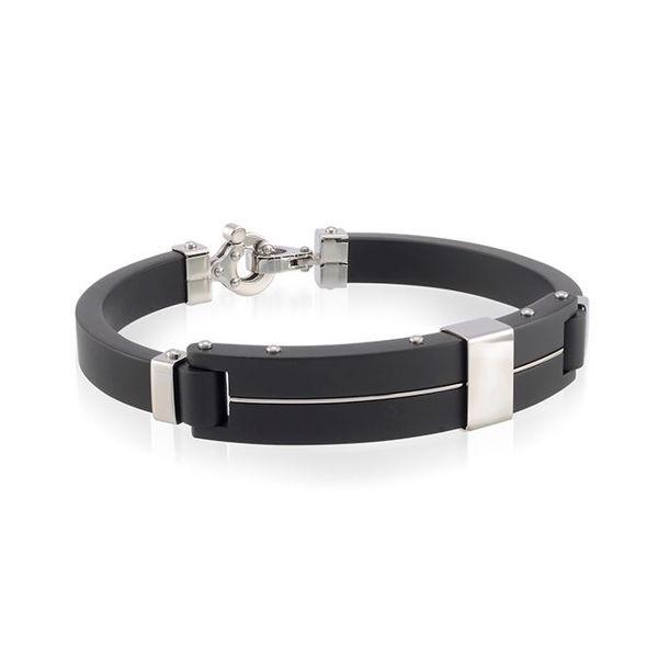 Italgem Men's Ion Plated Stainless Bangle Bracelet