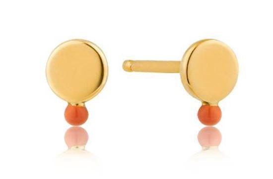 Ania Haie Dotted Disc Stud Earrings