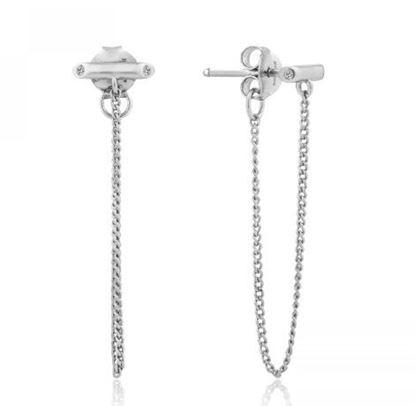 Ania Haie Shimmer Chain Stud Earrings