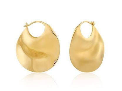 Ania Haie Ripple Thick Hoop Earrings