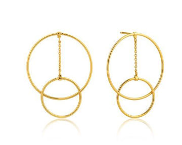 Ania Haie Modern Front Hoop Earrings