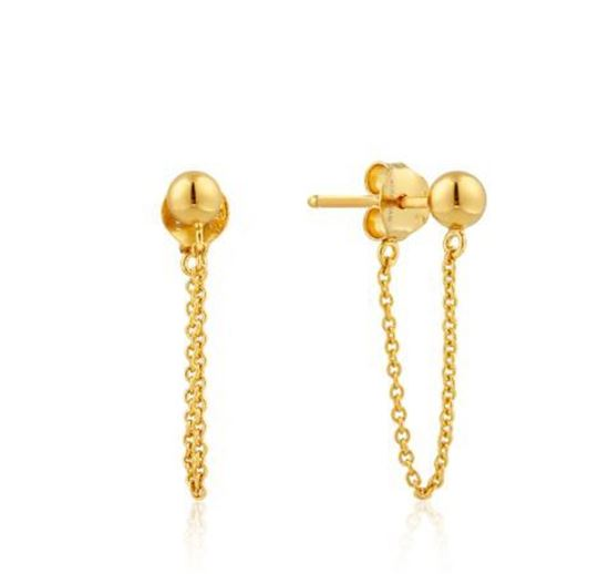 Ania Haie Modern Chain Stud Earrings
