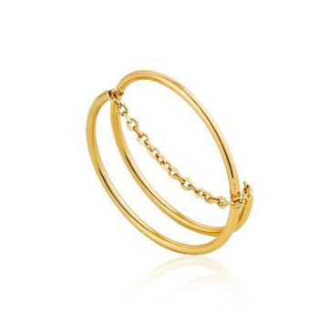 Ania Haie Modern Twist Chain Ring