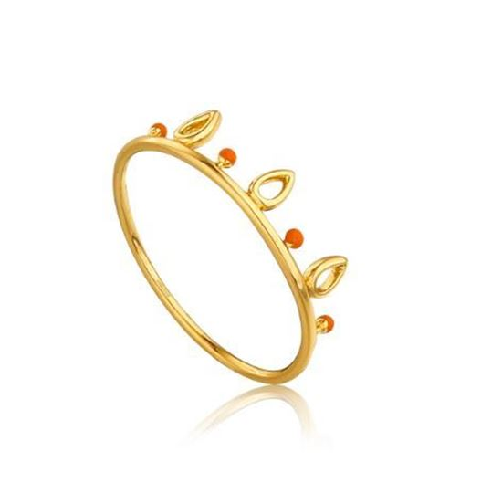 Ania Haie Dotted Triple Raindrop Ring