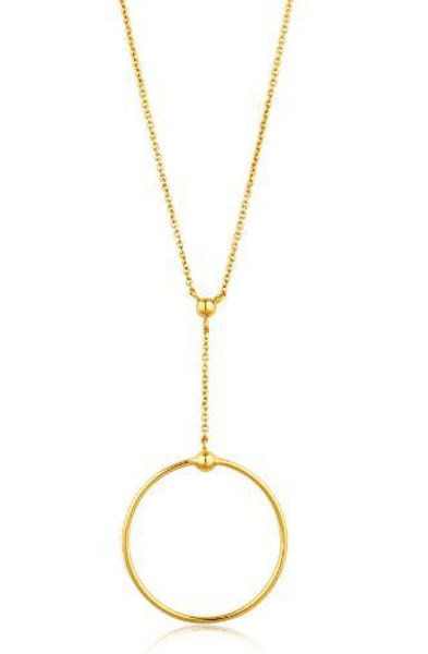 Ania Haie Orbit Drop Circle Necklace
