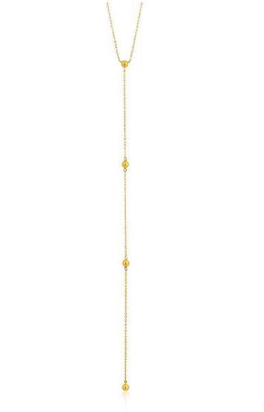 Ania Haie Modern Beaded Y Necklace