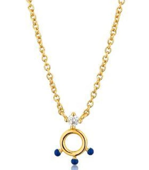 Ania Haie Dotted Cricle Pendant Necklace