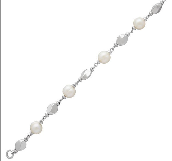 Dots and Dashes Freshwater Pearl Bracelet
