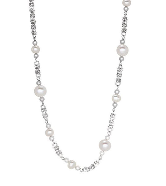 Freshwater Pearl Byzantine Bracelet