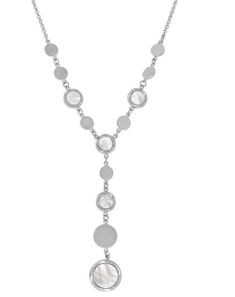Reflections Mother of Pearl Lariat necklace