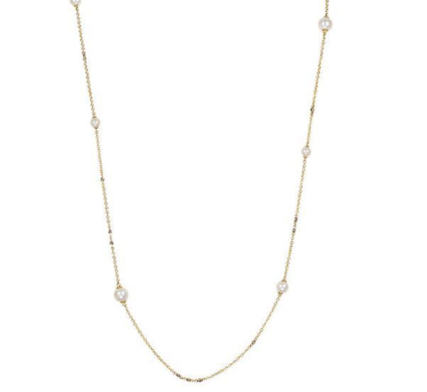 8.5-9mm Teardrop Pearl Pendant with Diamonds