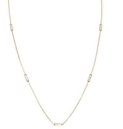 Geodescent tin cup style Mother of Pearl Necklace