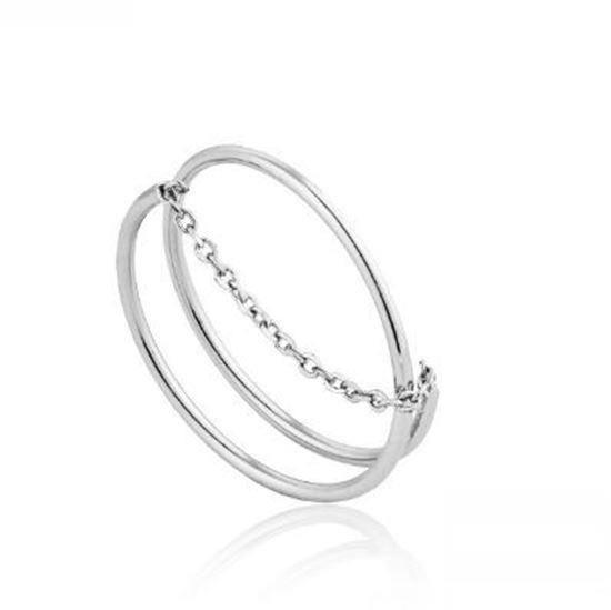 Ania Haie Modern Twist Chain Ring