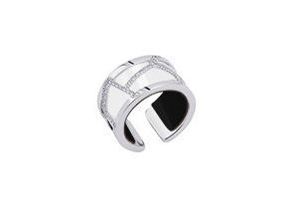 12mm Silver Girafe Ring with Cubic Zirconia-Medium