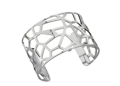 40mm Girafe Cuff Bracelet with Silver Finish