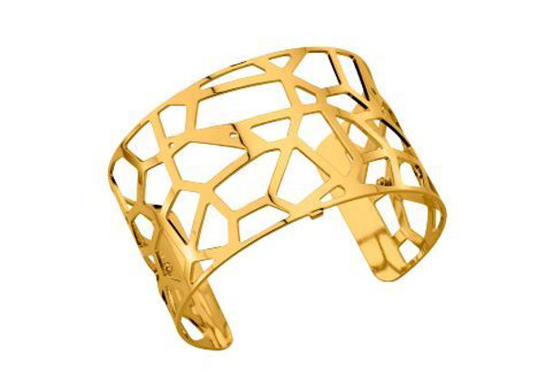 40mm Girafe Cuff Bracelet with Yellow finish