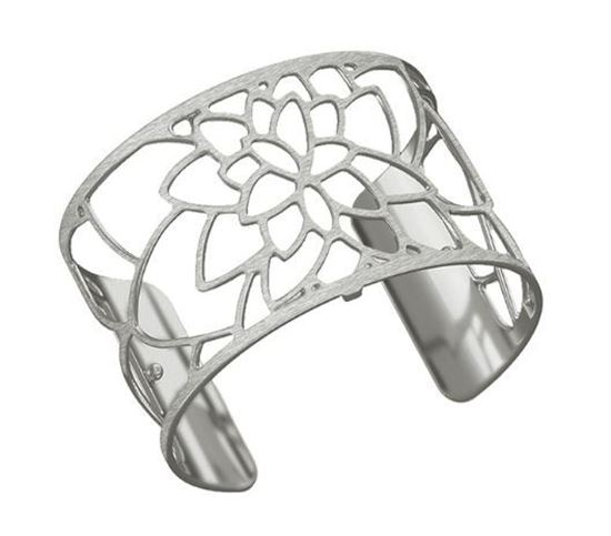 40mm Nenuphar Cuff Bracelet in Silver