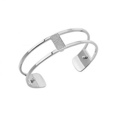 14mm Barrette Cuff Bracelet in Silver with Cubic Zirconia