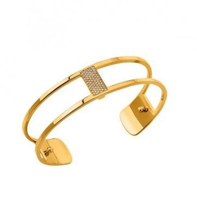14mm Barrette Cuff Bracelet in Yellow with Cubic Zirconia