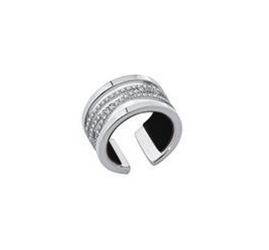 12mm Silver Liens ring with Cubic Zirconia. Size Large