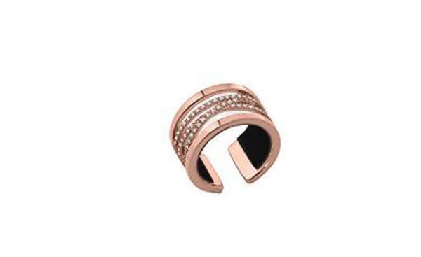 12mm Rose Liens Ring with Cubic Zirconia. Size Medium