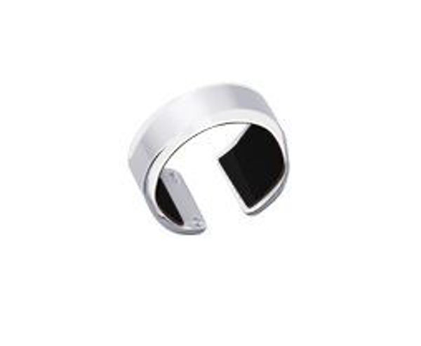 12mm Silver Bandeau Ring-Large