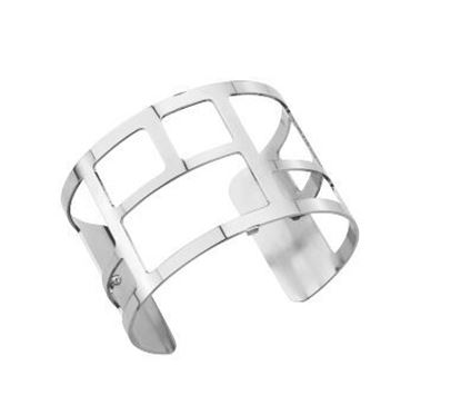 25mm Labyrinthe Cuff Bracelet in Silver