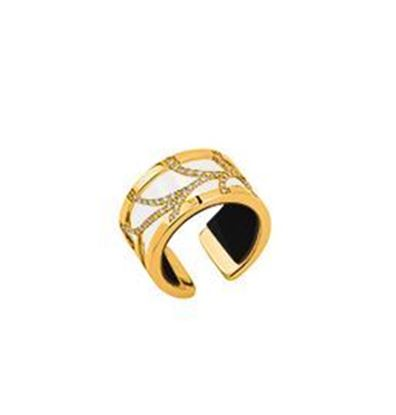 12mm Yellow Courbe Ring with Cubic Zirconia. Size Large