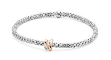 18Kt White gold Prima Flex it Bracelet with Diamond Pave