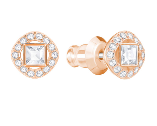Angelic Square crystal earrings