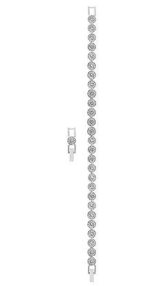 Angelic bezel set crystals in bracelet