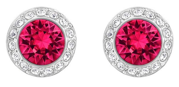 Angelic red crystal earrings