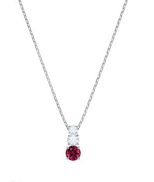 Angelic red and white crystal pendant