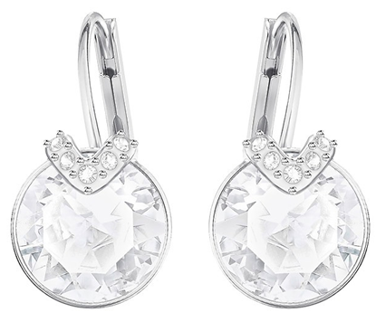 Bella-small round crystal earrings