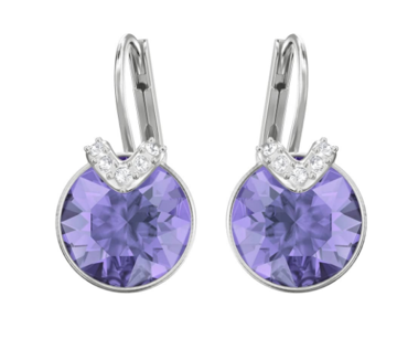 Bella-Mini round Tanzanite earrings