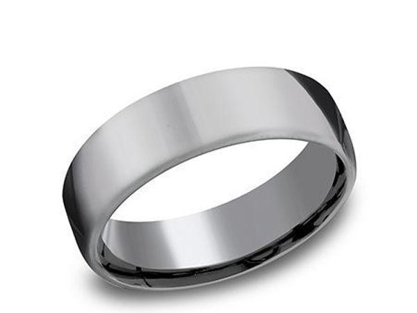 6.5mm Grey Tantalum domed band